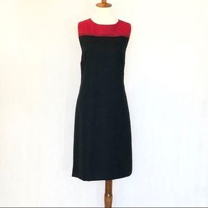 Talbots Sleeveless Wool Flannel Shift Dress